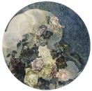 Розы и орхидеи. 1894. Левая часть триптиха Цветы для особняка Е.Д.Дункер в Москве.
