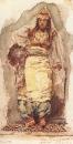 Натурщица в восточном костюме. 1884