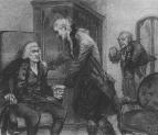 Моцарт и Сальери слушают игру слепого скрипача. 1884.
