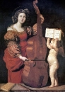 Музицирующая святая Цецилия с ангелом