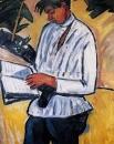 Портрет поэта Велимира Хлебникова. 1910
