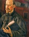 Портрет художника Б.M. Кустодиева