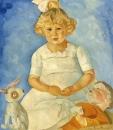 Портрет девочки с куклами. 1920