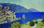 Вид из Ласточкиного гнезда. Крым. 1924