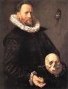 Портрет мужчины с черепом