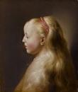 Портрет молодой девушки в профиль