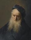 Портрет бородатого старика в синем берете