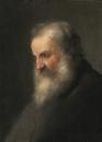 Профиль пожилого мужчины с бородой
