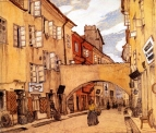 Добужинский Мстислав :: Стеклянная улица в Вильно