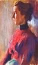 Неизвестная женщина в красном