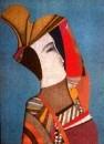 Портрет Ребекки с маской
