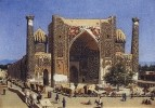 Медресе Шир-Дор на площади Регистан в Самарканде. 1869-1870