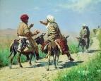 Мулла Рахим и мулла Керим по дороге на базар ссорятся. 1873