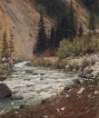 Горный ручей в Кашмире. 1875
