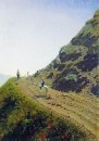 Кочевая дорога в горах Алатау. 1869-1870
