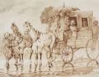 Под дождем в дилижансе на Черную речку. 1871