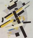 Супрематизм (Supremus №58, желтое и черное). 1916