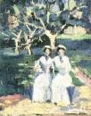 Две женщины в саду. Около 1930