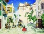 Улица в Севилье. Эскиз декорации к опере Ж. Бизе Кармен. 1908