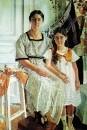 Портрет Лидии Яковлевны Рыбаковой с дочерью Олей. 1923