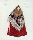 Кабанова. Эскиз костюма к драме А.Н. Островского Гроза. 1916