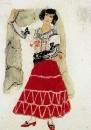 Кармен. Эскиз костюма к опере Ж. Бизе Кармен. 1908