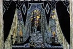 Могила Командора. Эскиз декорации к опере А.С. Даргомыжского Каменный гость. 1917