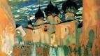 Вече в псковском кремле. Эскиз декорации к опере Н.А. Римского-Корсакова Псковитянка. 1901