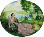 Девушка на Волге. 1919