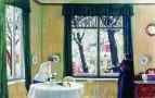 В комнатах зимой. 1915