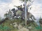Богатыри на конях. 1896