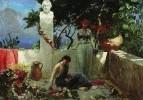 Девушки на террасе у бюста Гомера. 1890-е
