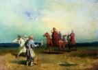 Иван Грозный на соколиной охоте, встречающий слепых 1868