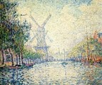 Rotterdam, the Windmill (Morning on the Canal), 1906