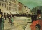 1889 musique militaire dans la rue Karl Johan