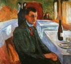 Автопортрет с бутылкой вина - 1906, Музей Мунка, Осло