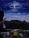 Арсенальская гора ночью, 1908 Клеенка, масло. 113X91 ГМИ Грузии, Тбилиси