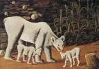 Белая медведица с медвежатами. 1917. Картон, масло, 100x140 ГМИ Грузии, Тбилиси