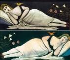 Ортачальская красавица. 1905 Диптих. Клеенка, масло. 52x117 ГМИ Грузии, Тбилиси