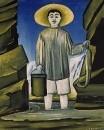 Рыбак среди скал. 1906 Клеенка, масло. 53,1х125,5 ГТГ