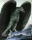 Орел, поймавший зайца. Клеенка, масло. ГМИ Грузии, Тбилиси