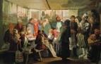 Приход колдуна на крестьянскую свадьбу. Эскиз. 1874