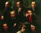 Автопортрет и портреты товарищей. 1864