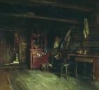 Внутренний вид избы 1869