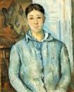 Мадам Сезанн в голубом 1885-1887
