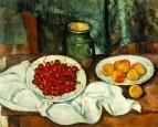 Натюрморт с вишнями и персиками 1883-1887