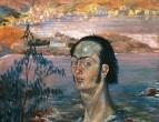 1920-1921 Автопортрет с рафаэлевской шеей