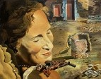 1934 (ок.)_Портрет Гала с двумя ягнятами, находящимися в равновесии на ее плече