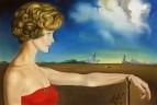 1959 Портрет молодой женщины в пейзаже
