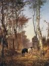В парке. Местечко Вёль в Нормандии. 1874